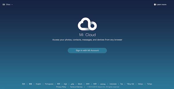 вход mi cloud
