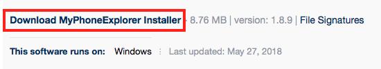 Download MyPhoneExplorer Installer
