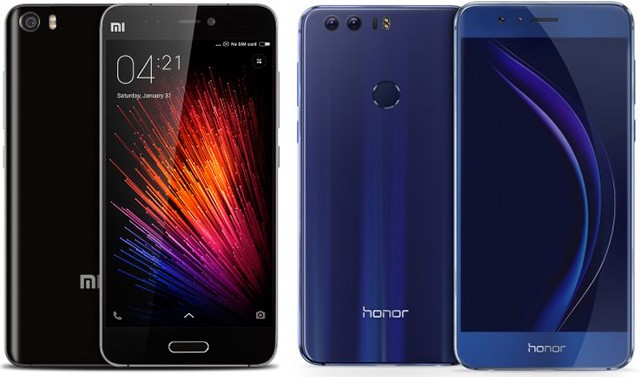 xiaomi mi5 vs huawei honor8