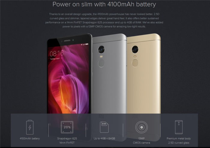 описание Xiaomi Redmi Note 4 Global