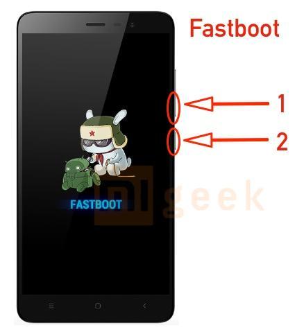 Активация fastboot режима