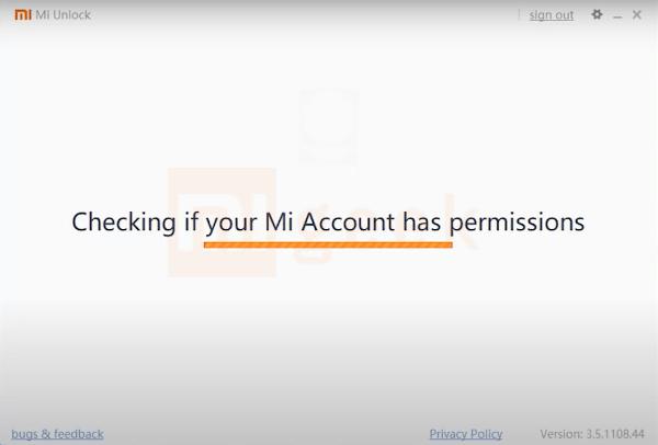 Проверка данных ми аккаунта mi unlock